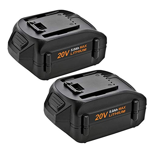 2-Pack WA3578 5.0Ah Battery for Worx 20V Battery Lithium WA3525 WA3520 WA3575 WX550L WG629 WG547 WG545 WG801 WG320 WX176L WX169L WX682L WG163