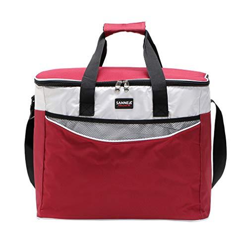 Y56(TM) Sanne Oxford Picknicktasche Picknick Rucksack Picknickkorb Thermotasche Isoliertasche für Im Freien, Grillfeste, Camping, 42x32x25cm (Rot)