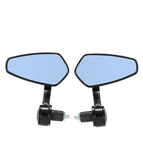KKmoon Ein Paar Universal Motorrad Rückspiegel 7/8 Zoll Lenker 360 ° drehbar & Winkel Verstellbare Außenspiegel