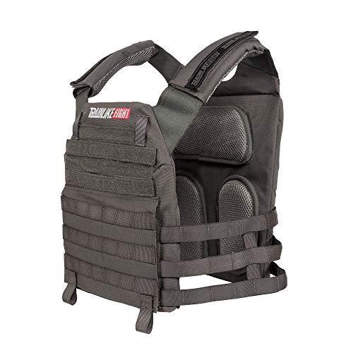 TRAINLIKEFIGHT OLDSKULL Vest - Chaleco Lastrado Ajustable para Entrenamiento, Crossfit, calistenia o Fitness (Apto para Placas lastradas) (WOLFGREY)
