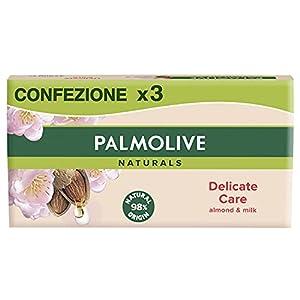 Palmolive Naturals Jabón, Leche de Almendras, 3 Unidades