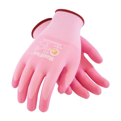 MaxiFlex Active 34-8264/XS Seamless Knit Nylon/Lycra Glove with Ultra Lightweight Nitrile Coated Micro-Foam Grip on Palm and Fingers
