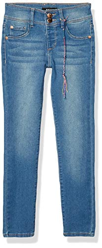 DKNY Girls' Big Jegging, B Super Denim Blue Jay, 10