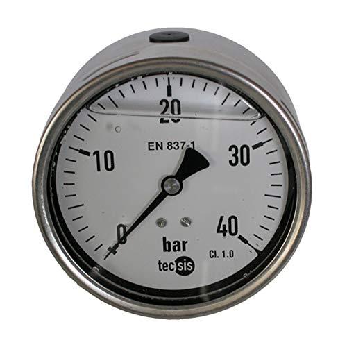 Hydraulik Manometer Glycerin NG Ø 100 Edelstahl bar, 0 bis 1 bar, HS18