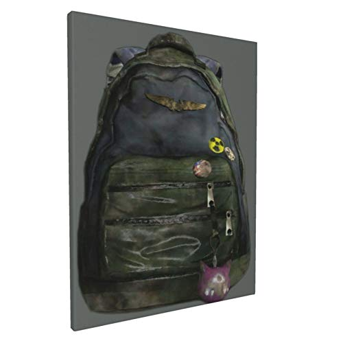 Ellie'S Backpack - The Last Of Us Wall Art Decor Canvas Print Picture Framed Artwork Ready To Hang For Bedroom Home Living Room Wall Decoration 12x16in