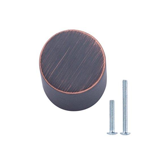 AmazonBasics - Schubladenknopf, Möbelgriff, Pfeifen-Optik, Durchmesser: 1,9 cm, Geöltes Bronze, 25er-Pack