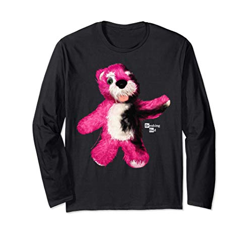 Breaking Bad Burnt Pink Teddy Bear Portrait Logo Manche Longue