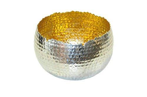 Sphärenlicht - D19cm / H14cm - Alu - Silber / Gold - Weihnachtsdeko