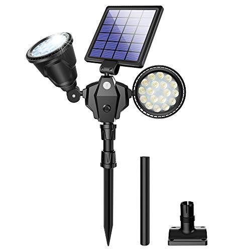 ROSHWEY Outdoor Solar Spot Lights,Super Bright 18 LED Security Lamps...