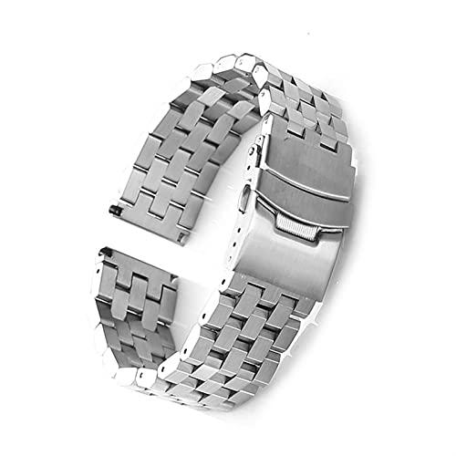 ZZDH Correas Relojes 26 mm 24 mm 22 mm 20 mm 18 mm Correa de Metal sólido de Acero Inoxidable Strap Strap Unisex Black/Silver Adecuado para Hombres y Mujeres