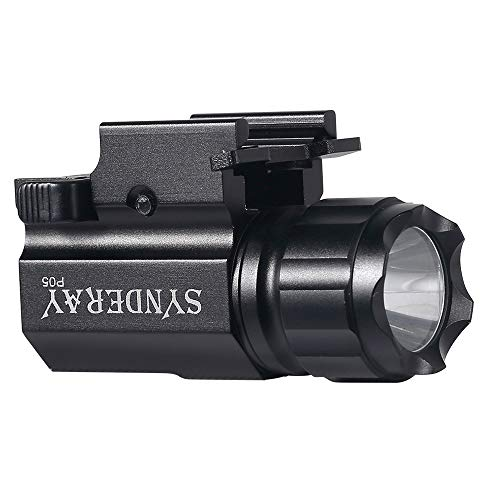 SyndeRay P05 Pistol Light,CREE LED Tactical Handgun Flashlight with Strobe Weaver Quick Release for Hunting