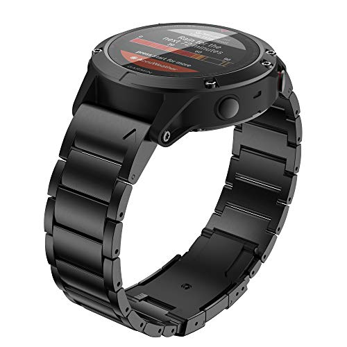 ANBEST Banda de Aleación de Titanio Compatible con Fenix 5X Release Quick 26mm Band de Reemplazo para Fenix 6X Pro/Fenix 5X Plus/Fenix 3 Smart Watch