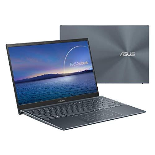 ASUS ZenBook 14 Ultra-Slim Laptop 14? Full HD NanoEdge Bezel Display, Intel Core i7-1165G7, 8GB RAM, 512GB PCIe SSD, NumberPad, Thunderbolt 4, Windows 10 Home, Pine Grey, UX425EA-EH71