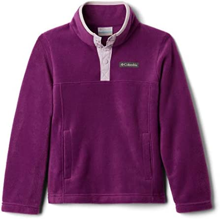 Columbia Girls Little Steens MTN 1 4 Snap Fleece Pull over Plum X Small product image