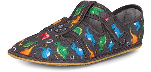Ladeheid Kinder Hausschuhe LARW009(Grau Dinosaurier,24 EU)