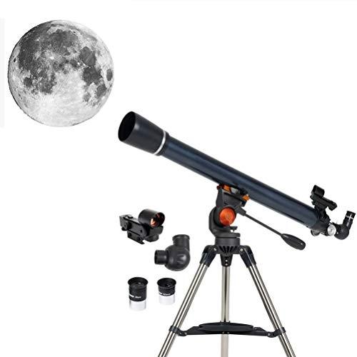 WXFXBKJ Astronomische Teleskope, 70AZ-Teleskop - Refraktor-Teleskop - voll beschichtete Glasoptik - einstellbares Höhenstativ □ Bonus-Astronomie-Softwarepaket