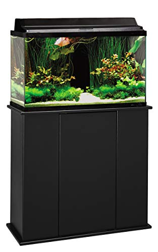 Aquatic Fundamentals AMZ-36291-01, 29 Gallon Aquarium Stand with Storage, Black Finish