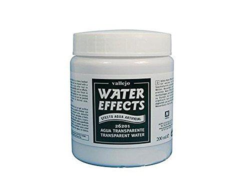 Vallejo 26201. Agua artificial. 200 ml. Producto acrílico a base de agua, formulado para crear ríos, lagos, océanos y glaciares en maquetas y dioramas.
