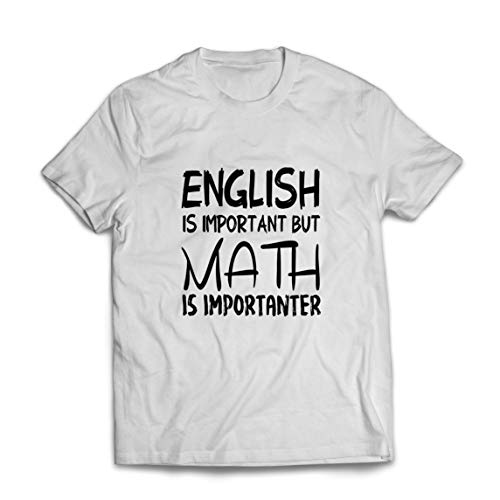 lepni.me Mannen T-shirt Math is Importanter Cool Mathematics Teacher Outfit