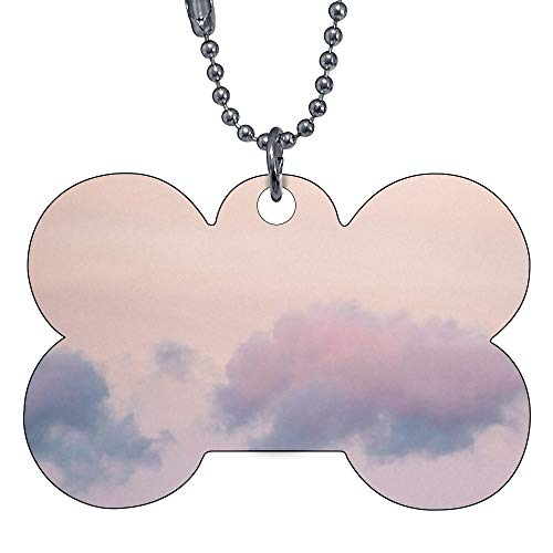 VinMea Funny Dog Cat Pet ID Tags Pastel Sky at Loughrigg Fell Add Your Contact Customize Information and Colors on Back of Tag