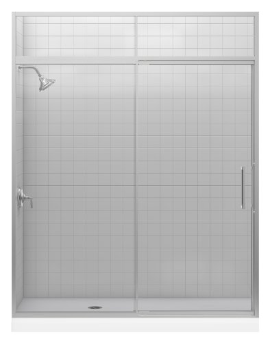 Best Price Kohler K-705827-L-NX Lattis 3/8 Pivot Door with Transom, Brushed Nickel