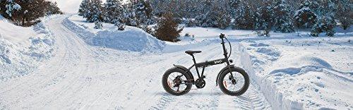 VIVO BIKE Vivobike Fat Bike VFA20F con ruote da 20'' Cambio Shimano 6 marce - Freni a disco Motore Antai 250W brushless 25km/h max 26kg Batteria LG 36V - 6800 mAh - Durata 30km max