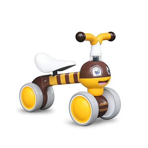 XIAPIA Kinder Laufrad ab 1 Jahr Lauflernrad für 10 - 36 Monate Baby, TÜV geprüft Erst Rutschrad Fahrzeug Geschenke für Jungen/Mädchen Kleinkind Spielzeug (Gelbe Biene)