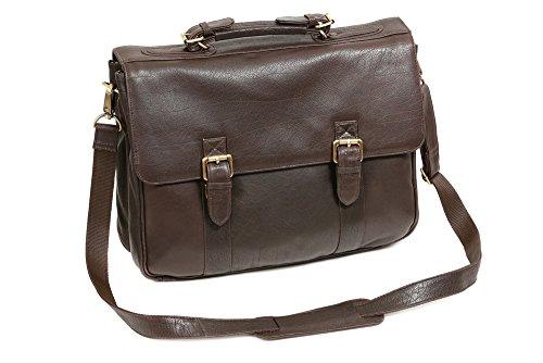 LEAS Oxford - Aktentasche Echt-Büffelleder, dunkelbraun Classic Bags