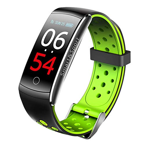 AUOKP Bluetooth Smart Uhr Schwimmen Ip68 Pulsmesser App GPS Fit Für Ios Android Smartwatch, Grün