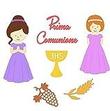Crafting Dies Fustella Comunione, Fustelle Pasqua con Fustella Calice Comunione, Fustella Croce, Fustella Cresima, Fustella Bambina Che Prega
