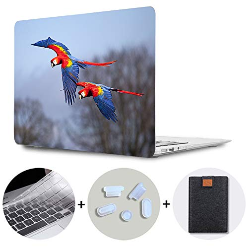 SDH MacBook Air 13 Inch Case 2018 2019 Release,Laptop Hard Shell Cover for Apple MacBook Air 13 Case Model A1932 with Retina Display fits Touch ID, Cute Parrot 9