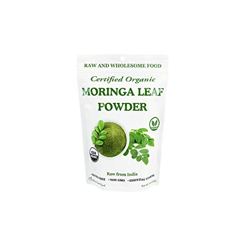 Organic Moringa Oleifera Leaf Powder, 100% Raw from India, Perfect for Smoothies, Drinks, Tea, Recipes, Resealable Bag by Cherie Sweet Heart (8 oz)