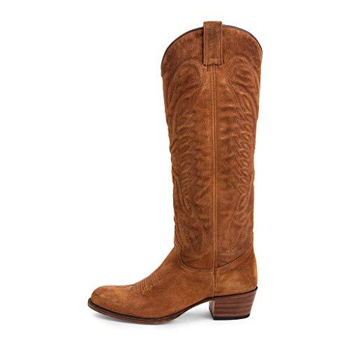 Sendra Boots Bota Western de Caña Alta 8840 Debora Old Martens Lavado en Serraje