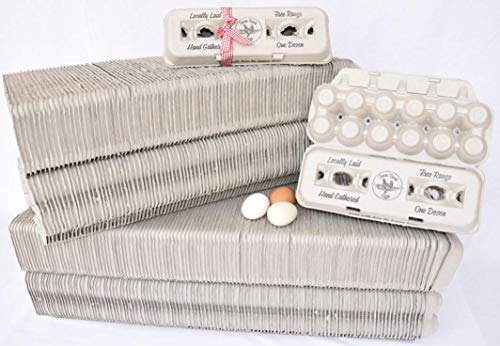 Read About 250 Egg Cartons – Cheap Bulk Vintage Design for Your Locally Laid Farm Fresh Eggs, 100%...