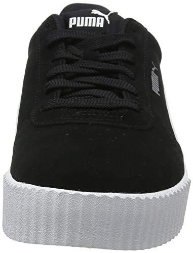 PUMA Carina, Zapatillas Mujer, Negro Black/Black/Silver, 38 EU