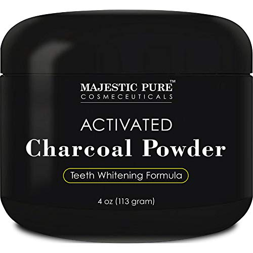 Activated Charcoal Teeth Whitening Powder by Majestic Pure - Natural...