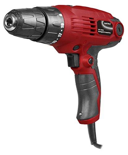 Matrix 120100225 Elektroschrauber, 2 Gang Getriebe, Drehmoment 19 fach einstellbar, Spannbereich 10mm, Schnellspann-Bohrfutter, 300 W, 230 V