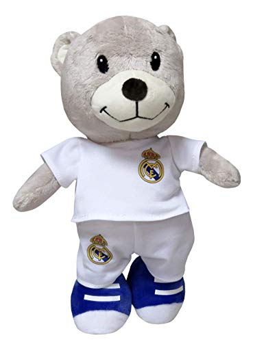 Real Madrid M-01-RM Peluche Osito, 30 cm