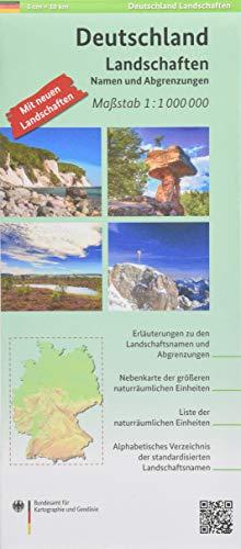 Deutschland Landschaften 1:1 000 000: Landschaftskarte mit Namen und Abgrenzungen (Topographische Karten 1:1 000 000)