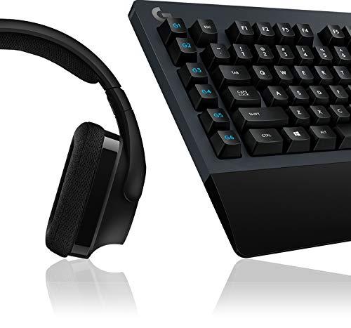 Logitech G613 Lightspeed kabellose mechanische Gaming-Tastatur, Taktile Romer-G Switches + Logitech G533 kabelloses Gaming-Headset, 7.1 Surround Sound, DTS Headphone:X, 40mm Treiber