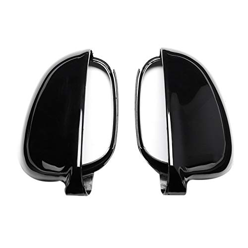DZWLYX Side Door Mirror Cover Rearview Wing Mirror Cover Casing Fit for Volkswagen for-Vw Jetta Golf Mk5 Eos Pair Front Wing Side Mirror Cover Shell Car Wing Mirror Cover (Color : Black)