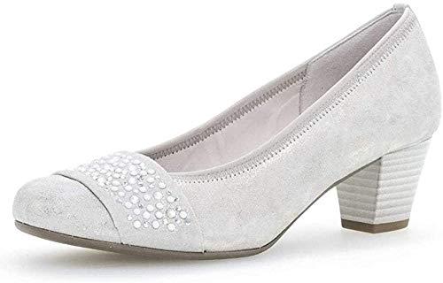 Gabor Damen Pumps, Frauen Elegante Pumps,Best Fitting,Soft & Smart, Court-Shoes Absatzschuhe Abendschuhe stöckelschuhe,Puder,40 EU / 6.5 UK