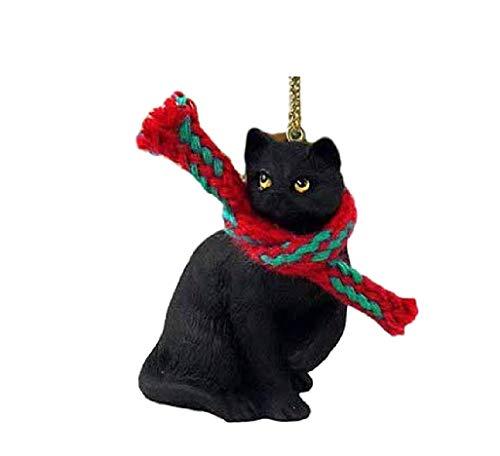 Conversation Concepts 1 X Tiny Ones Black Cat Ornament w/Scarf