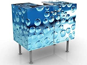Apalis Design Vanity Dark Bubbles 60x 55x 35cm, Piccolo, Largo 60cm, Regolabile, lavandino, lavabo, Rubinetto per lavabo da Bagno, Armadio, unità di Base, Bagno, Narrow, Flat