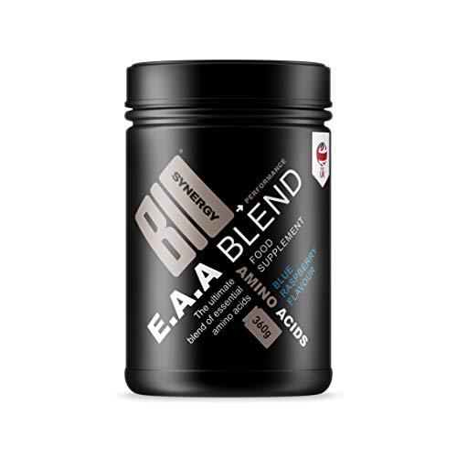 BioSynergy Vegan Essential Amino Acid blend High Performance Blue Raspberry Flavour 360g