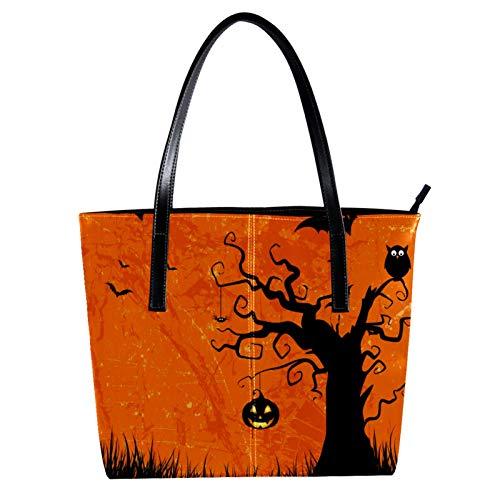 LORVIES Halloween de style grunge Sac à bandoulière en cuir PU et sacs à main Sac fourre-tout pour femmes