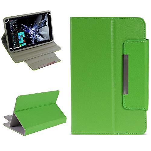 NAUC Tablet Tasche für TrekStor Surftab Breeze 7.0 Hülle Schutzhülle Hülle Cover Etui, Farben:Grün
