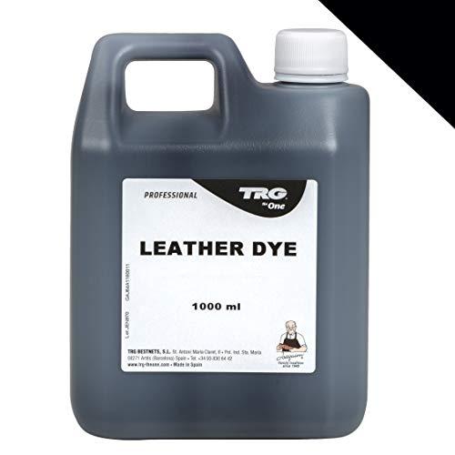 TRG Lederfarbe 1 L für Echt-Leder und Kunstleder zum färben von Sofa Schuhe Lederjacke Autoleder oder als Farbauffrischer - Farbe wählbar, (Schwarz)