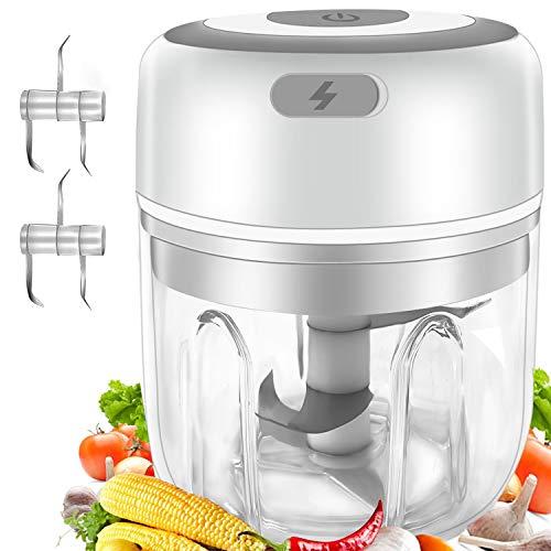 Gintan Picadora de Alimentos,250ML Picador de Ajo Eléctrica