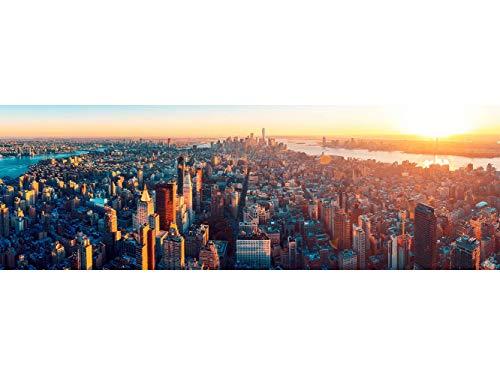 Oedim Papier Peint Auto-Adhésif | Coucher de Soleil Empire State Building New York | 500 x 300 cm | Décoration muraux de Chambre